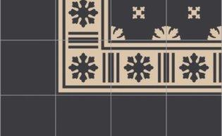 Bisazza border cementtegel Square Blizzard Sabbia 200 x 200