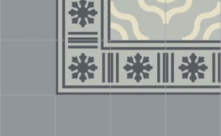 Bisazza border cementtegel Square Blizzard Stagno 200 x 200