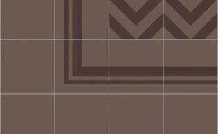 Bisazza border cementtegel Square Around Brown 200 x 200