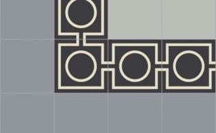 Bisazza border cementtegel Square Focus Nero 200 x 200