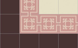 Bisazza border cementtegel Square Icon Rosa 200 x 200