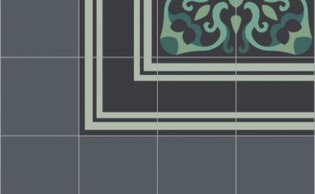 Bisazza border cementtegel Square Inside Storm 200 x 200
