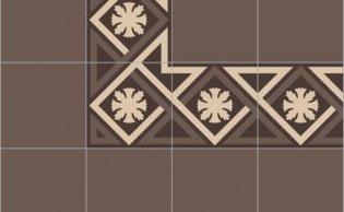 Bisazza border cementtegel Square Losanga Corteccia 200 x 200