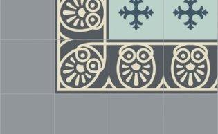 Bisazza border cementtegel Square Papua Carnico 200 x 200