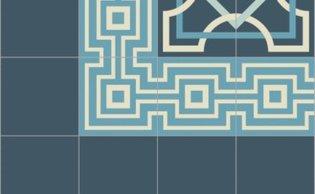 Bisazza border cementtegel Square Papua Cielo 200 x 200
