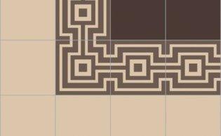 Bisazza border cementtegel Square Papua Terra 200 x 200