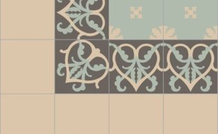 Bisazza border cementtegel Square Romance Dolomiti 200 x 200