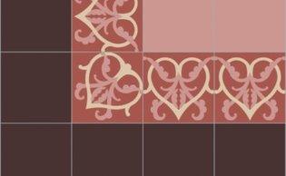Bisazza border cementtegel Square Romance Melograno 200 x 200