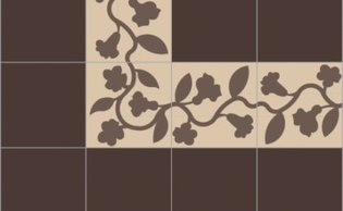 Bisazza border cementtegel Square Charm Arachide 200 x 200
