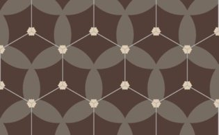 Bisazza cementtegel Hexagon Astral Gianduia 200 x 230