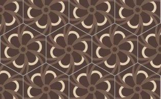 Bisazza cementtegel Hexagon Blossom Corteccia 200 x 230