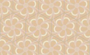 Bisazza cementtegel Hexagon Blossom Magnolia 200 x 230