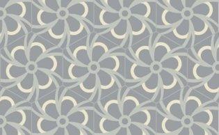 Bisazza cementtegel Hexagon Blossom Platino 200 x 230
