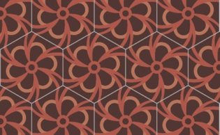 Bisazza cementtegel Hexagon Blossom Pompei 200 x 230