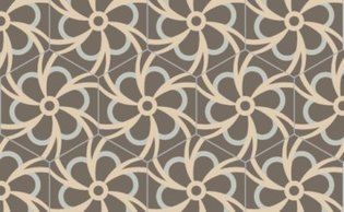Bisazza cementtegel Hexagon Blossom Seppia 200 x 230