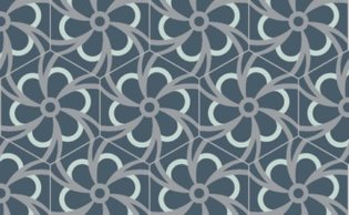 Bisazza cementtegel Hexagon Blossom Sodalite 200 x 230