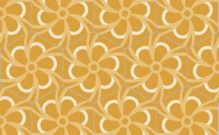 Bisazza cementtegel Hexagon Blossom Sun 200 x 230