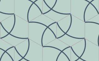 Bisazza cementtegel Hexagon Compas Mallorca 200 x 230