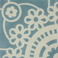 Sunflower Aqua Patroontegel Multi color 200 x 200