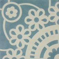 Sunflower Aqua Patroontegel Multi color 200 x 200