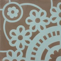 Sunflower Bue Patroontegel Multi color 200 x 200