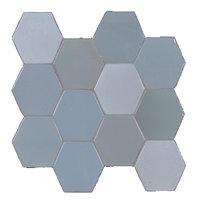 Zellige Blue Ciel Gris 100 x 100