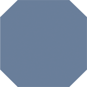Zahna Achteck Eben Blau uni 140 x 140