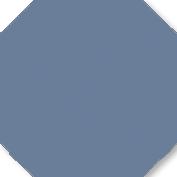 Zahna Achteck Eben Blau uni 170 x 170