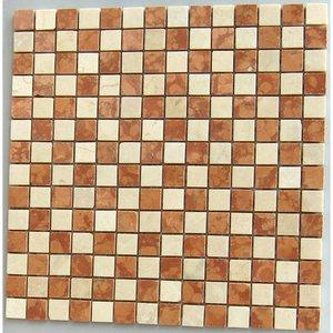 Mozaiek Rosso / Botticino / Gepolijst 300x300