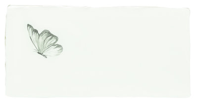 Azure Angel Half Tile Grey on Papyrus 130 x 63
