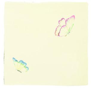 A Kaleidoscope of butterflies Pandora White & Azure Angel 130 x 130