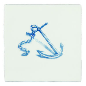 Anchor Blue on Papyrus 130 x 130