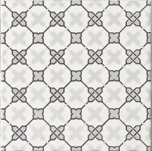 Filigree Grey on Brilliant white 152 x 152